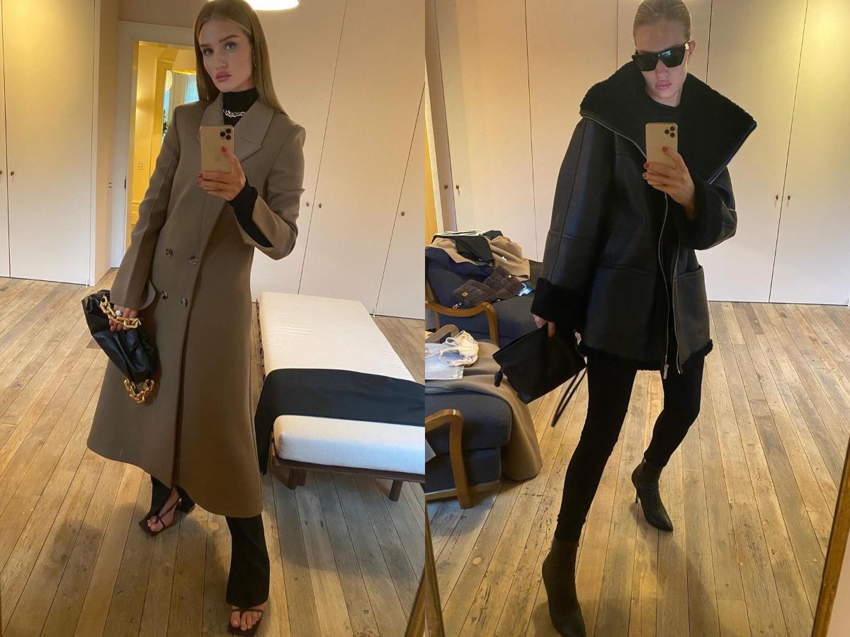 H Rosie Huntington δοκιμάζει τα trendy πανωφόρια της σεζόν! Boήθησε την να διαλέξει το πιο στιλάτο