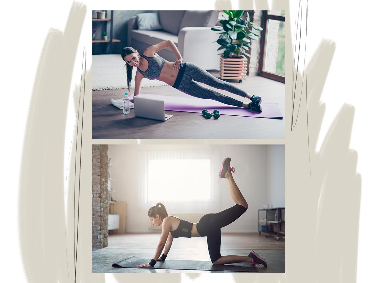 Γυμναστική στο σπίτι: Κοιλιακοί, γλουτοί, πόδια… Ασκήσεις για όλο το σώμα