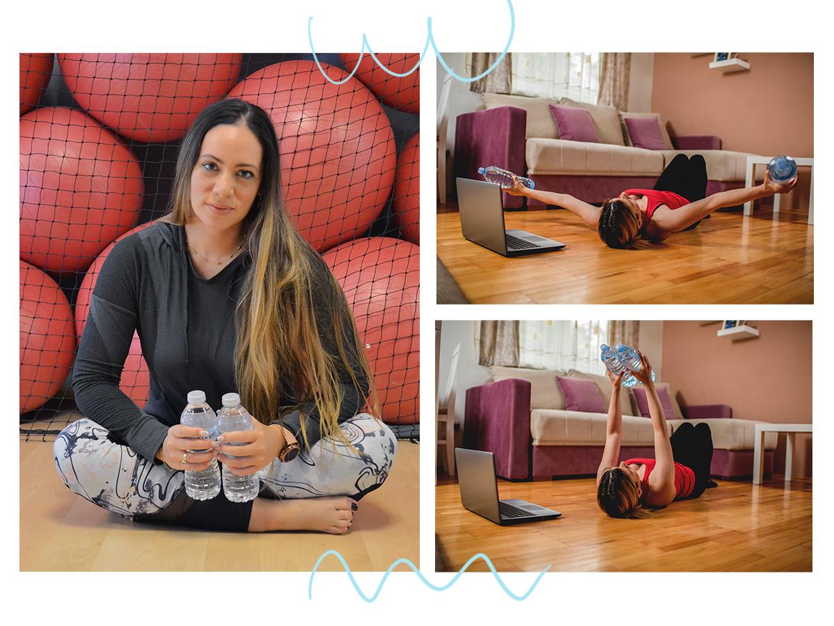 Γυμναστική στο σπίτι: Ασκήσεις για όλο το σώμα με δύο μπουκαλάκια νερό