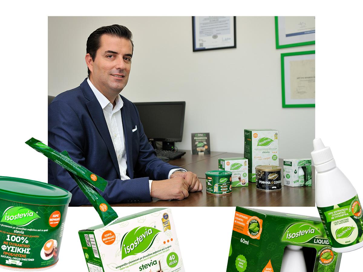 """Ο CEO της Isostevia, Αντώνης Παναγώτας, μας δίνει το μυστικό για να πεις οριστικό """"αντίο"""" στη ζάχαρη"""
