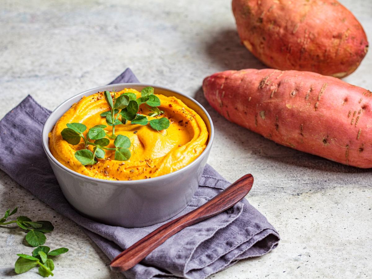 Συνταγή για χούμους γλυκοπατάτας