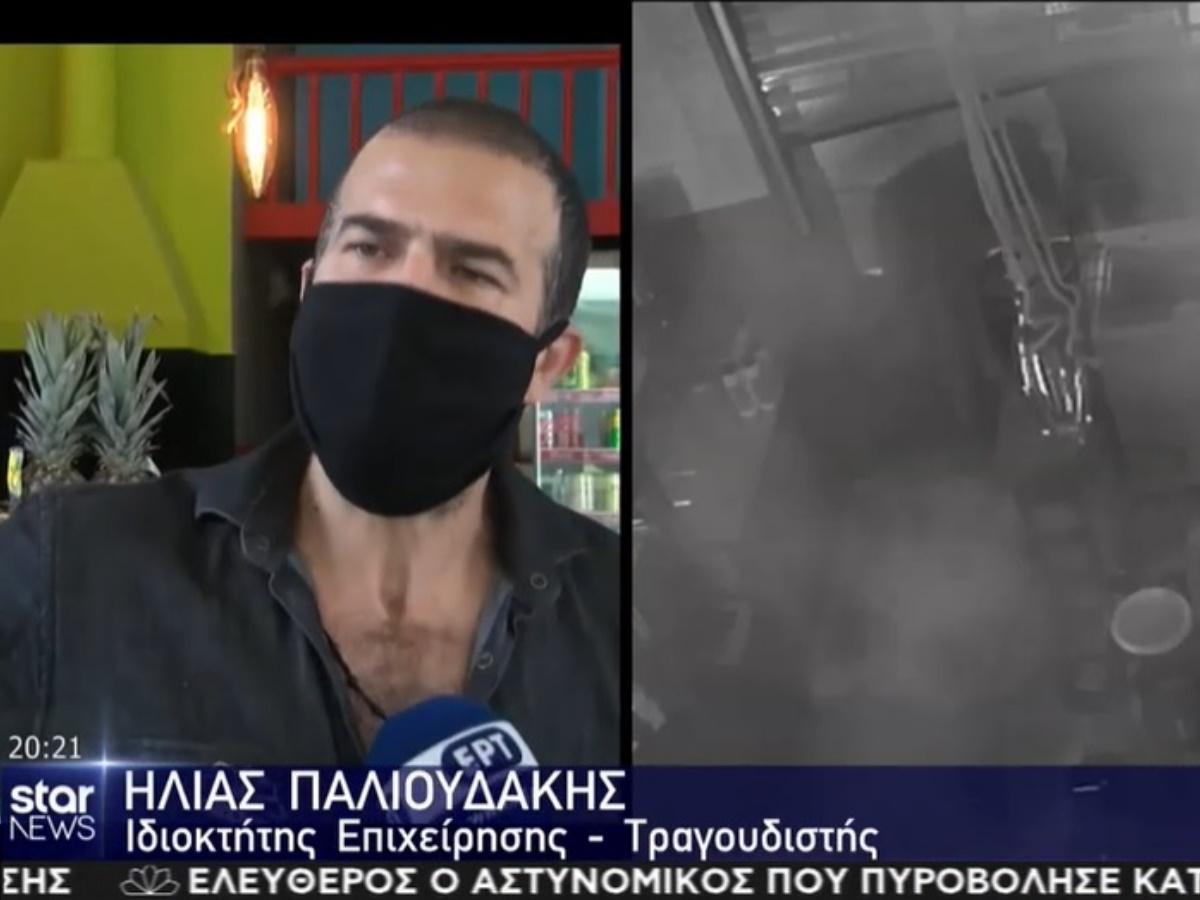 Ηλίας Παλιουδάκης: Βίντεο ντοκουμέντο από τη διάρρηξη στο μαγαζί του!
