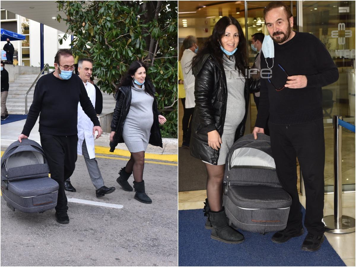 Σταμάτης Γονίδης – Κατερίνα Κουργιουξίδου: Πήραν εξιτήριο από το μαιευτήριο! Το TLIFE ήταν εκεί (pics)