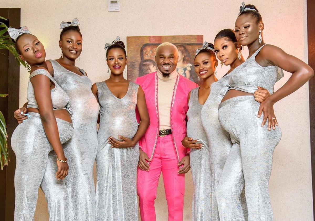 Celebrity των social media, πήγε σε γάμο, με 6 γυναίκες, έγκυες από αυτόν! (pics,vid)
