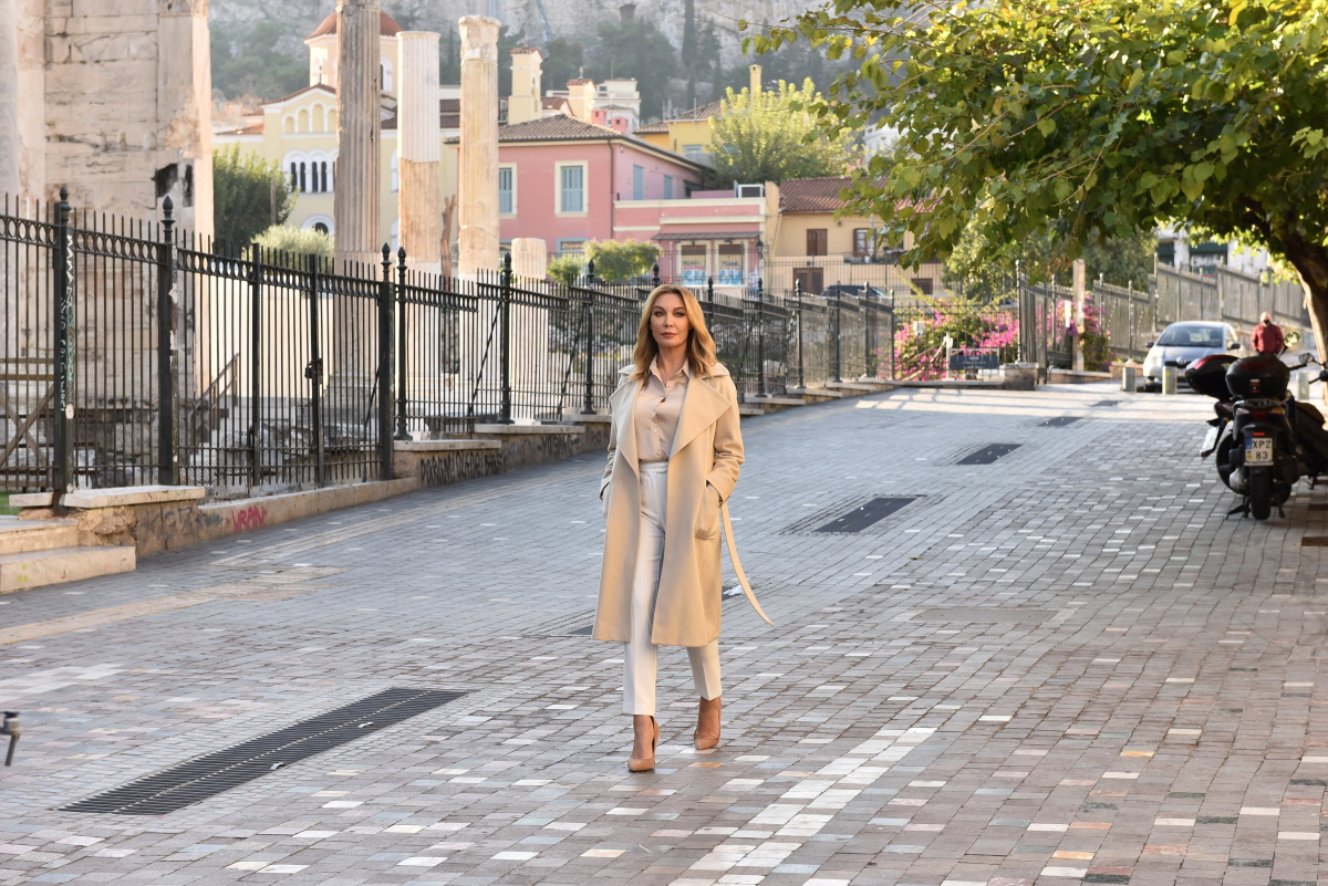 Τατιάνα Στεφανίδου: Στο Μοναστηράκι, για το τρέιλερ της εκπομπής της στον Alpha! Backstage φωτογραφίες