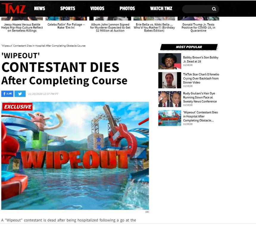 Νεκρός απο καρδιακή προσβολή παίκτης γνωστού τηλεπαιχνιδιού