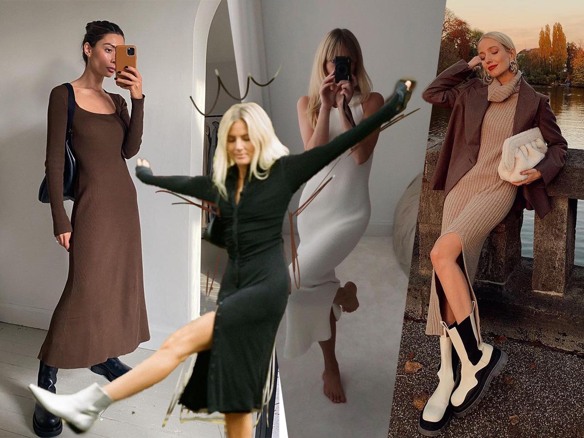 Πλεκτό φόρεμα: Το cozy trend που τώρα φοράμε άνετα και μέσα στο σπίτι!