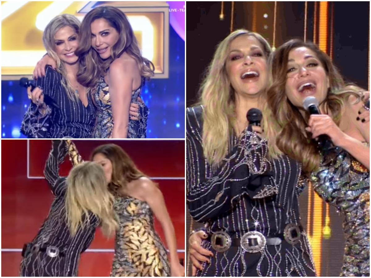 J2US: Άννα Βίσση και Δέσποινα Βανδή τραγούδησαν μαζί για πρώτη φορά – Το πεταχτό φιλί στο στόμα