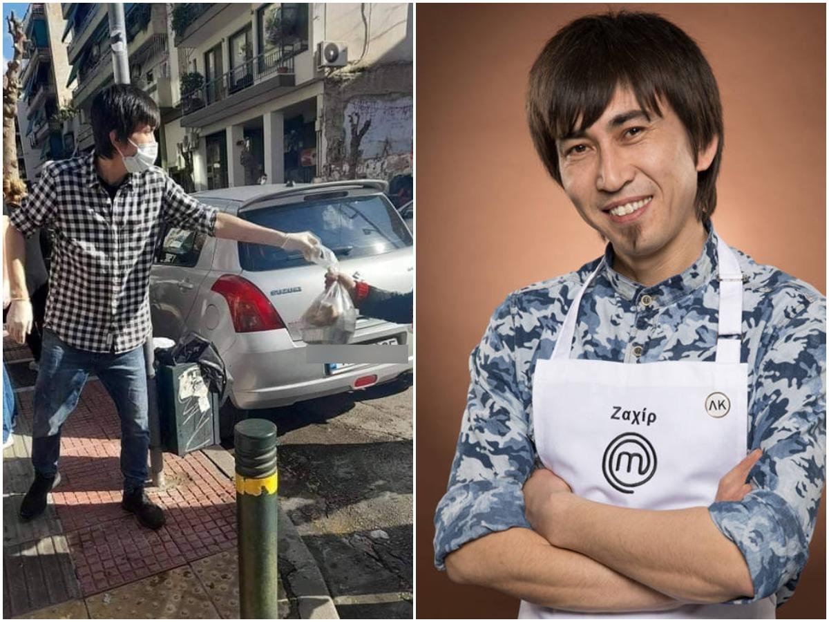 Συγκλονίζει στο TLIFE, ο Ζαχίρ Γιαβαρί του Master Chef! Μαγειρεύει και μοιράζει 2000 μερίδες φαγητού σε οικογένειες και άστεγους!