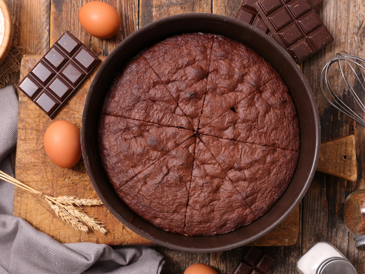Συνταγή για σοκολατένια βασιλόπιτα με κακάο