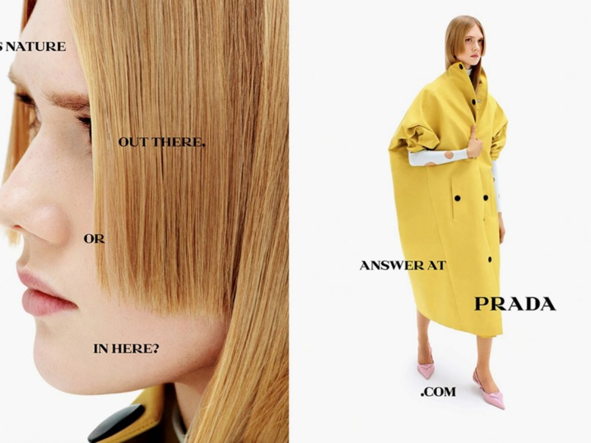 H νέα καμπάνια της Prada είναι ότι πιο έξυπνο είδαμε τον τελευταίο καιρό