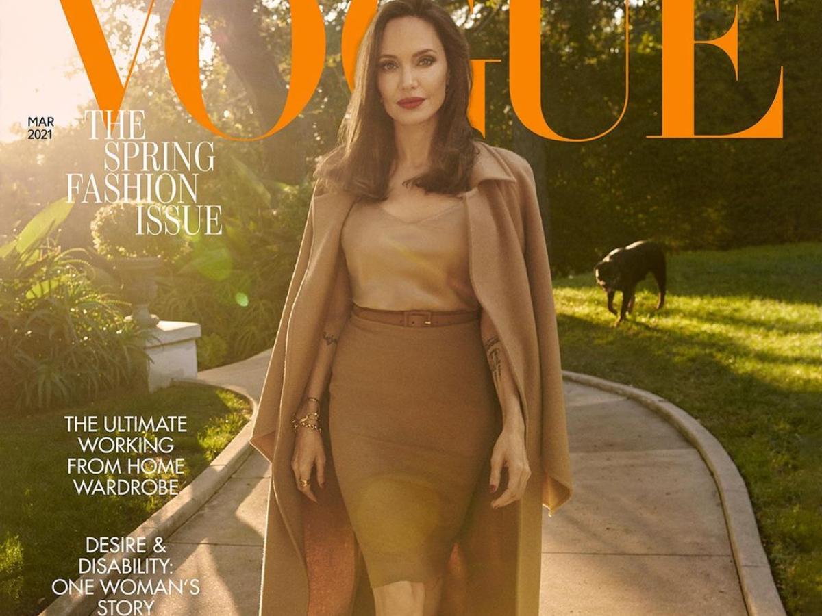 Η Αντζελίνα Τζολί είναι η επιτομή της κομψότητας στο εξώφυλλο της βρετανικής Vogue