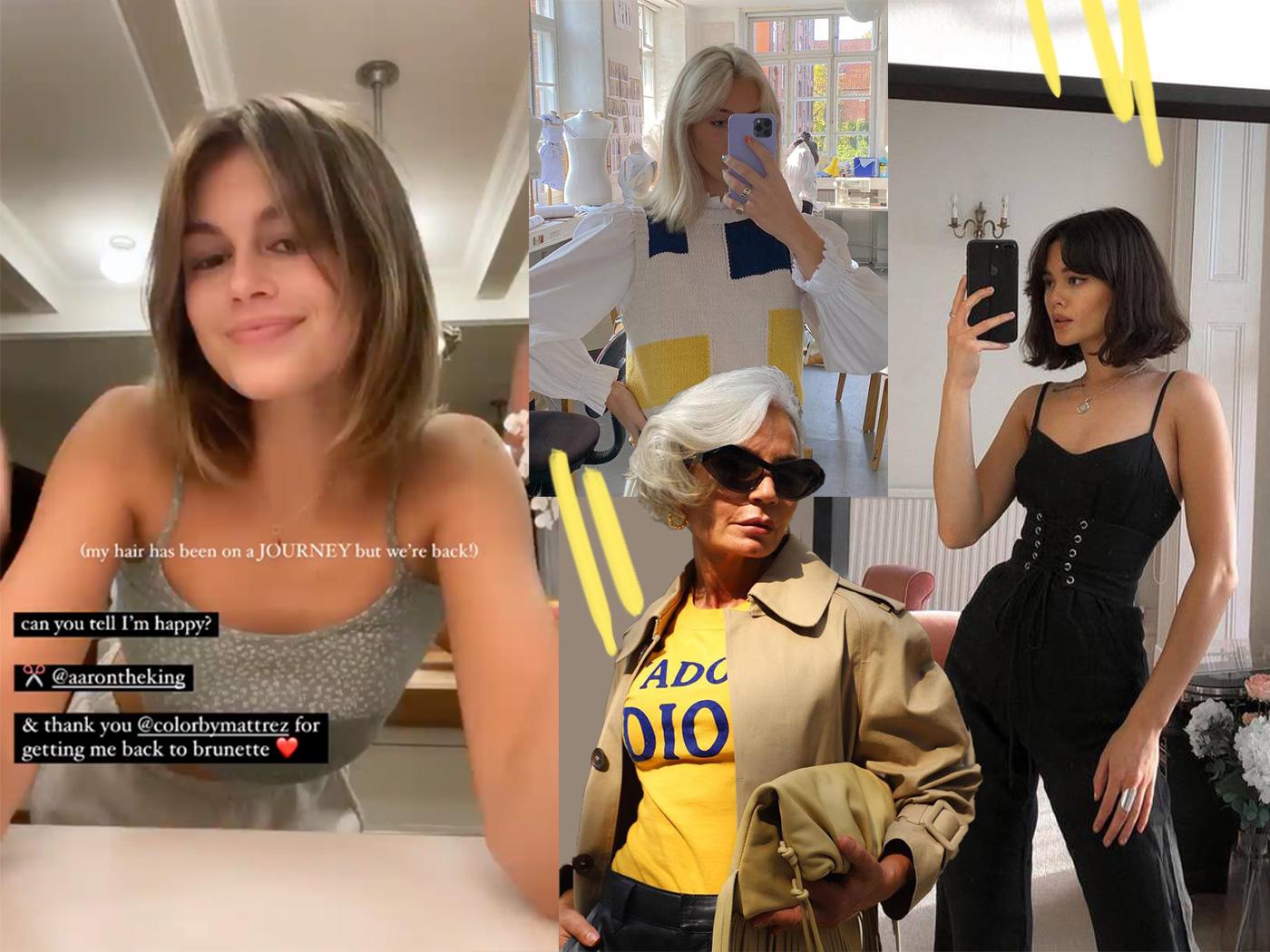 Μερικά από τα ωραιότερα καρέ του instagram με αφορμή το νέο κούρεμα της Kaia Gerber