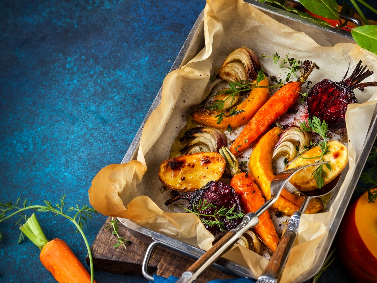 Συνταγή για ψητά λαχανικά εποχής