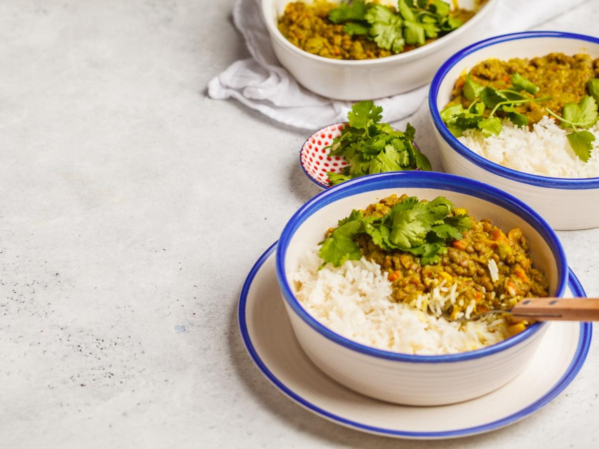Συνταγή για ινδικό φακόριζο με κάρι