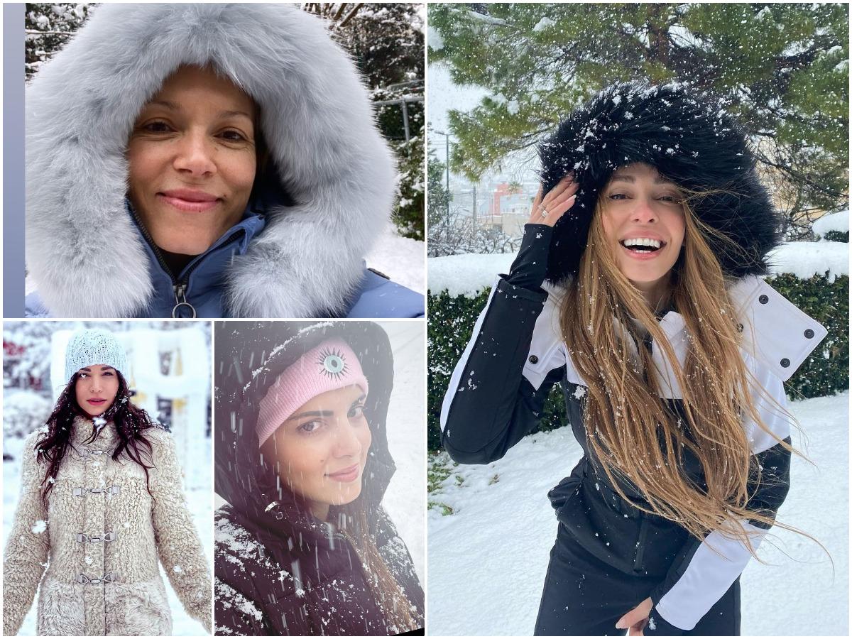 Οι celebrities έγιναν ξανά παιδιά και απόλαυσαν ξέγνοιαστες στιγμές στα χιόνια
