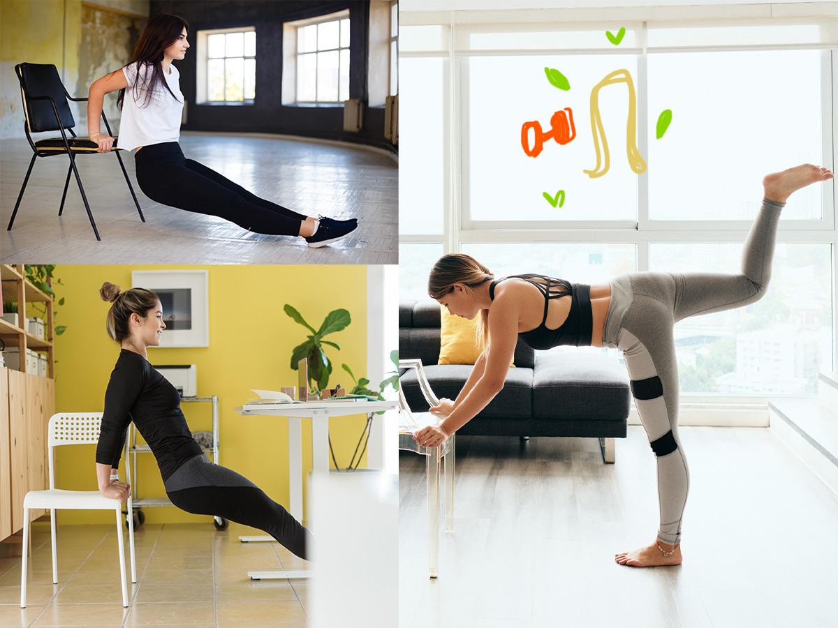Γυμναστική στο σπίτι: 5 εύκολες ασκήσεις για όλο το σώμα που μπορείς να κάνεις σε μία καρέκλα