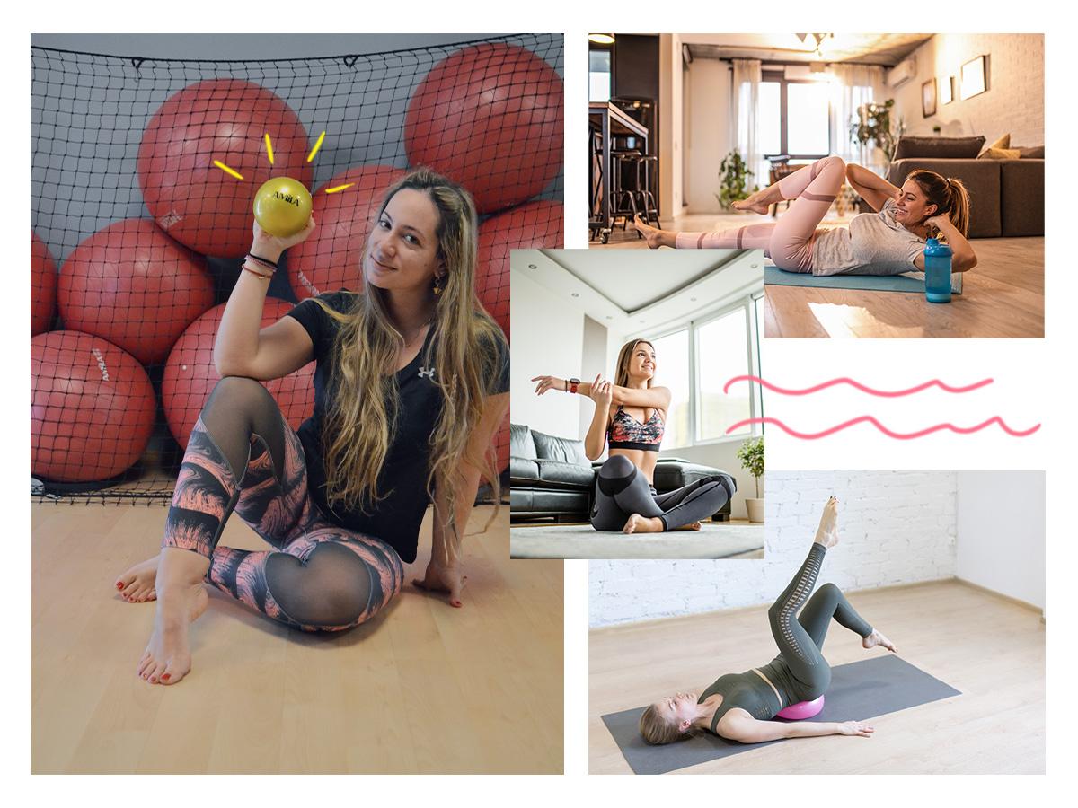 Γυμναστική στο σπίτι: 5 ασκήσεις για όλο το σώμα με μία μικρή μπάλα με βάρος