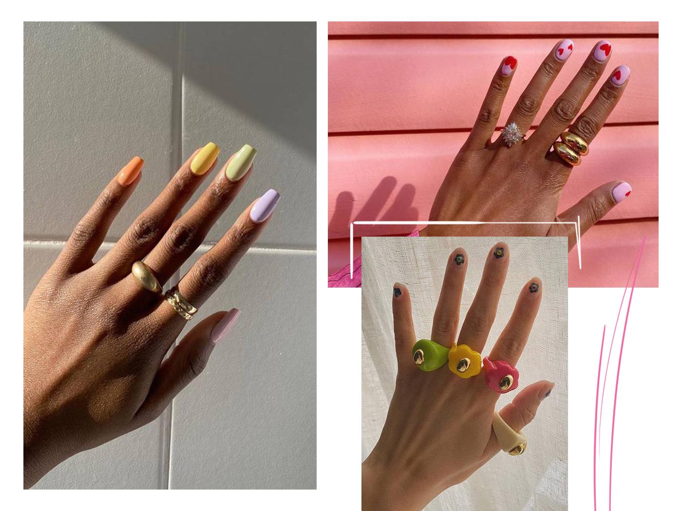 Μανικιούρ και δαχτυλίδια: δέκα τέλειοι συνδυασμοί για να πάρεις έμπνευση