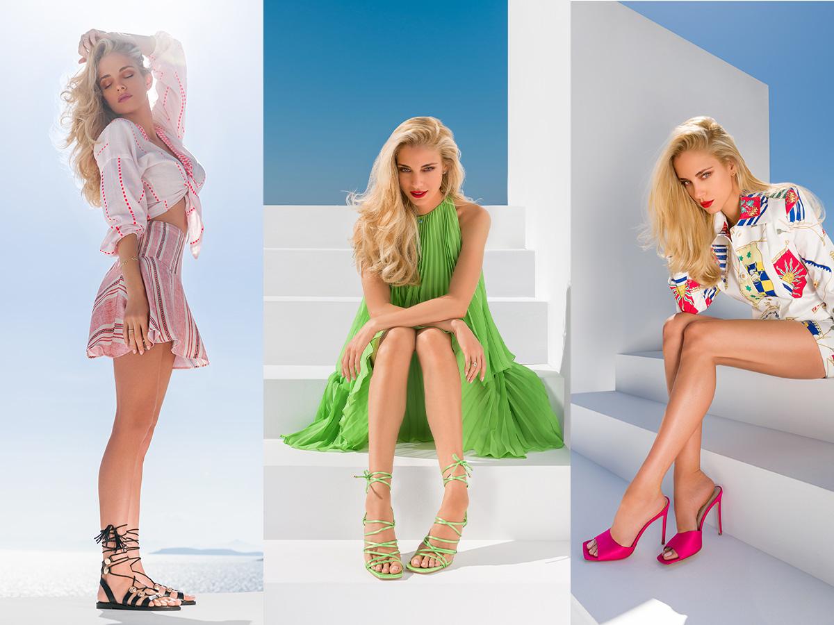 H Δούκισσα Νομικού πρωταγωνιστεί στη νέα καμπάνια της ENVIE SHOES και φοράει τα πιο στιλάτα καλοκαιρινά σχέδια