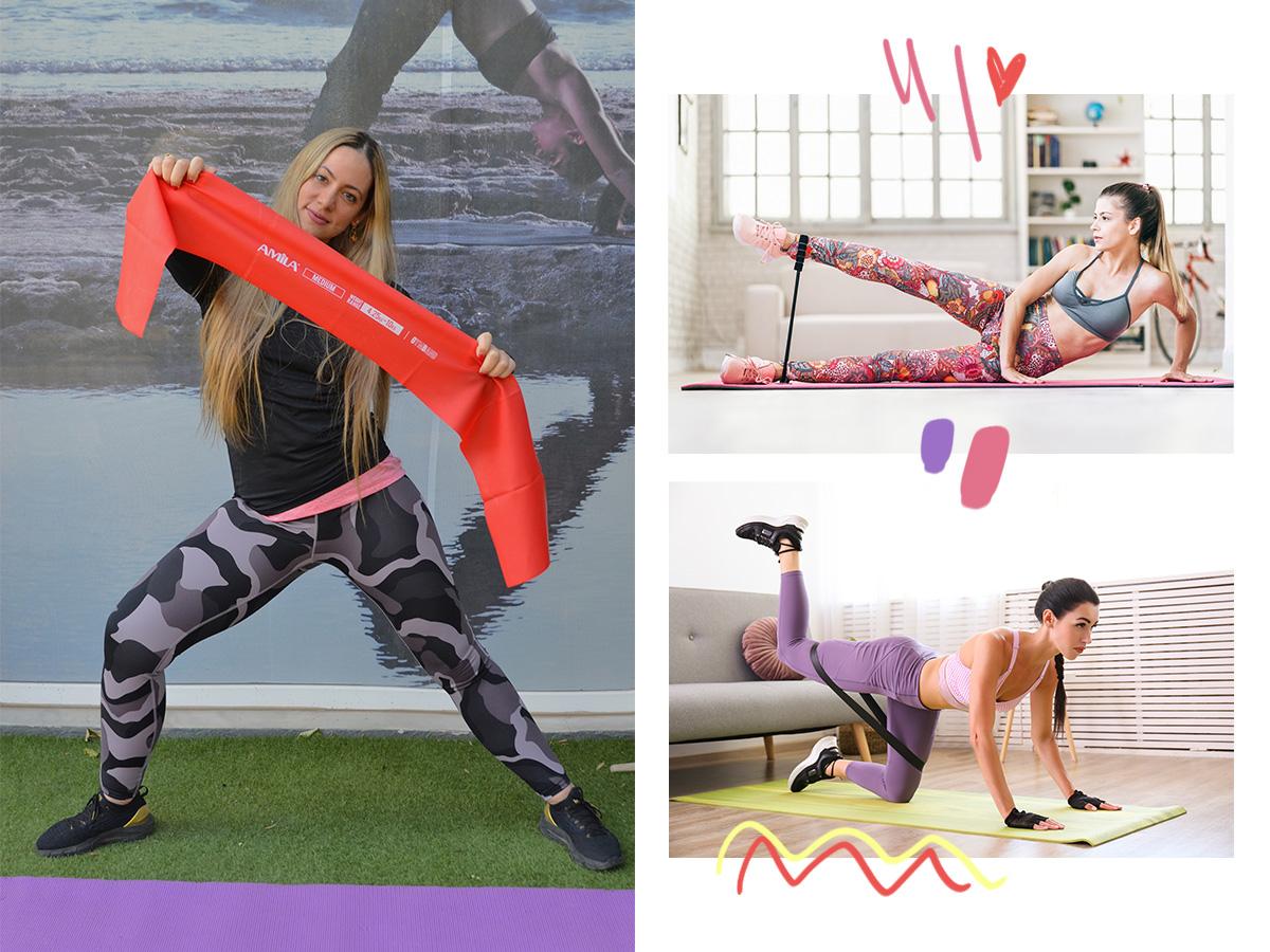 Γυμναστική στο σπίτι: 5 ασκήσεις για όλο το σώμα με ένα λάστιχο γυμναστικής