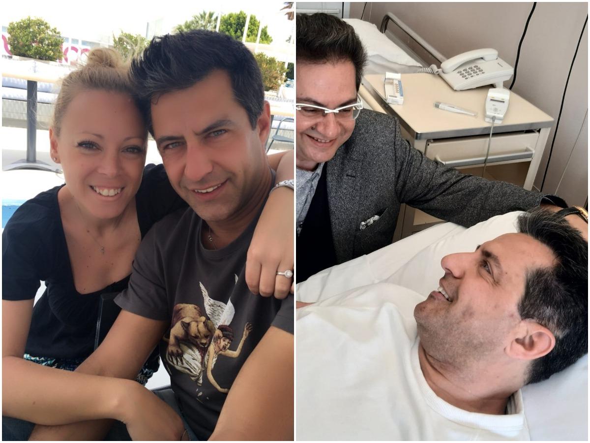 Κωνσταντίνος Αγγελίδης: Επιστροφή στο σπίτι μετά το χειρουργείο – Η φωτογραφία και οι ευχές της συζύγου του Εβελίνας