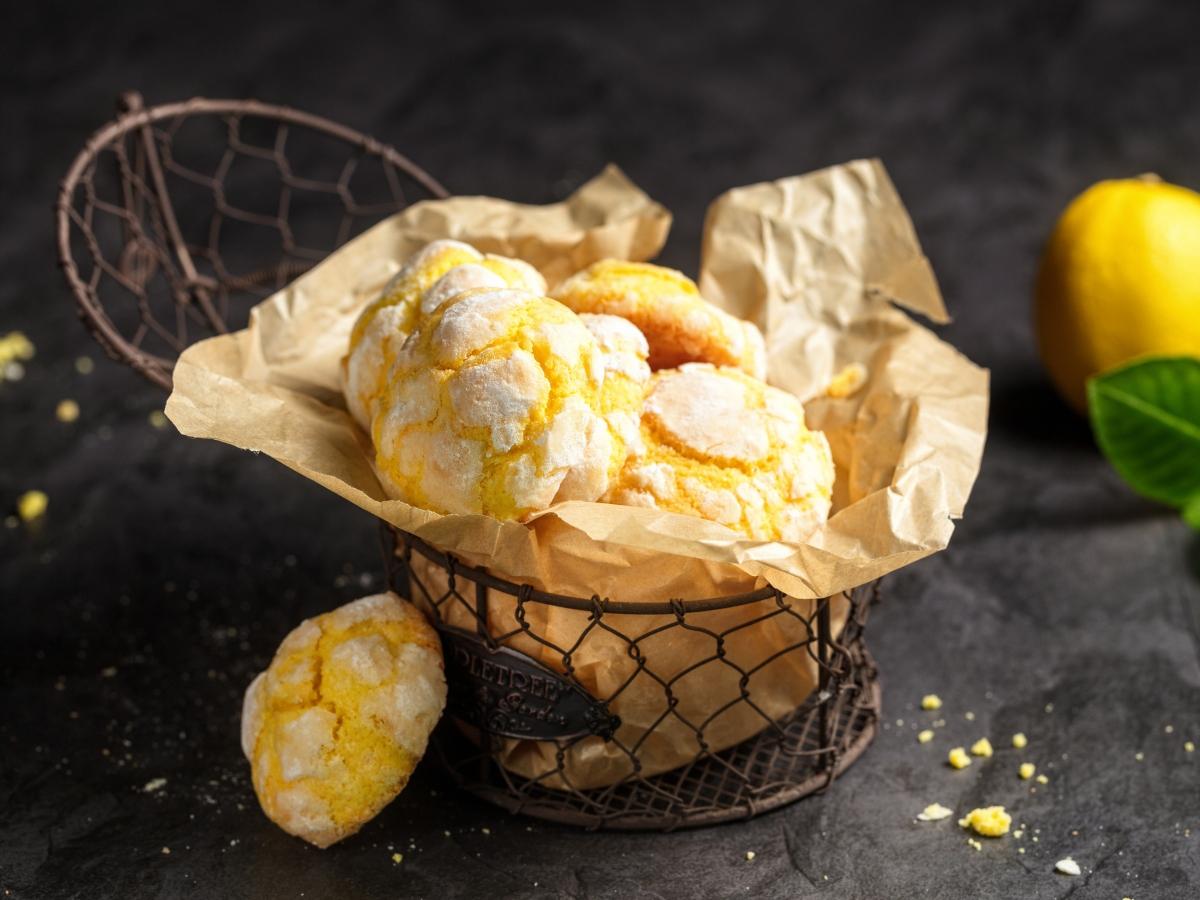 Συνταγή για ραγισμένα μπισκότα λεμόνι