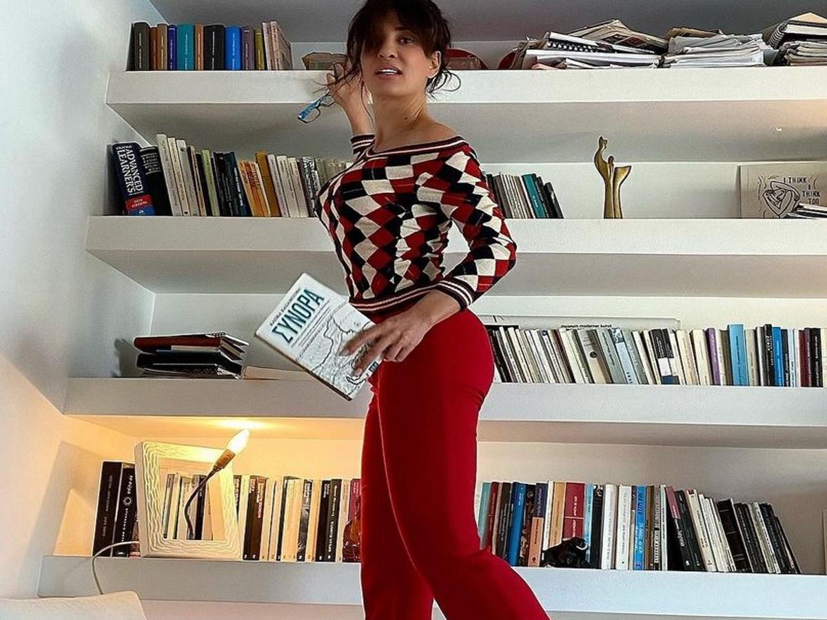 Δήμητρα Ματσούκα: Το minimal σαλόνι της έχει την πιο όμορφη θέα και το μετέτρεψε σε… γυμναστήριο