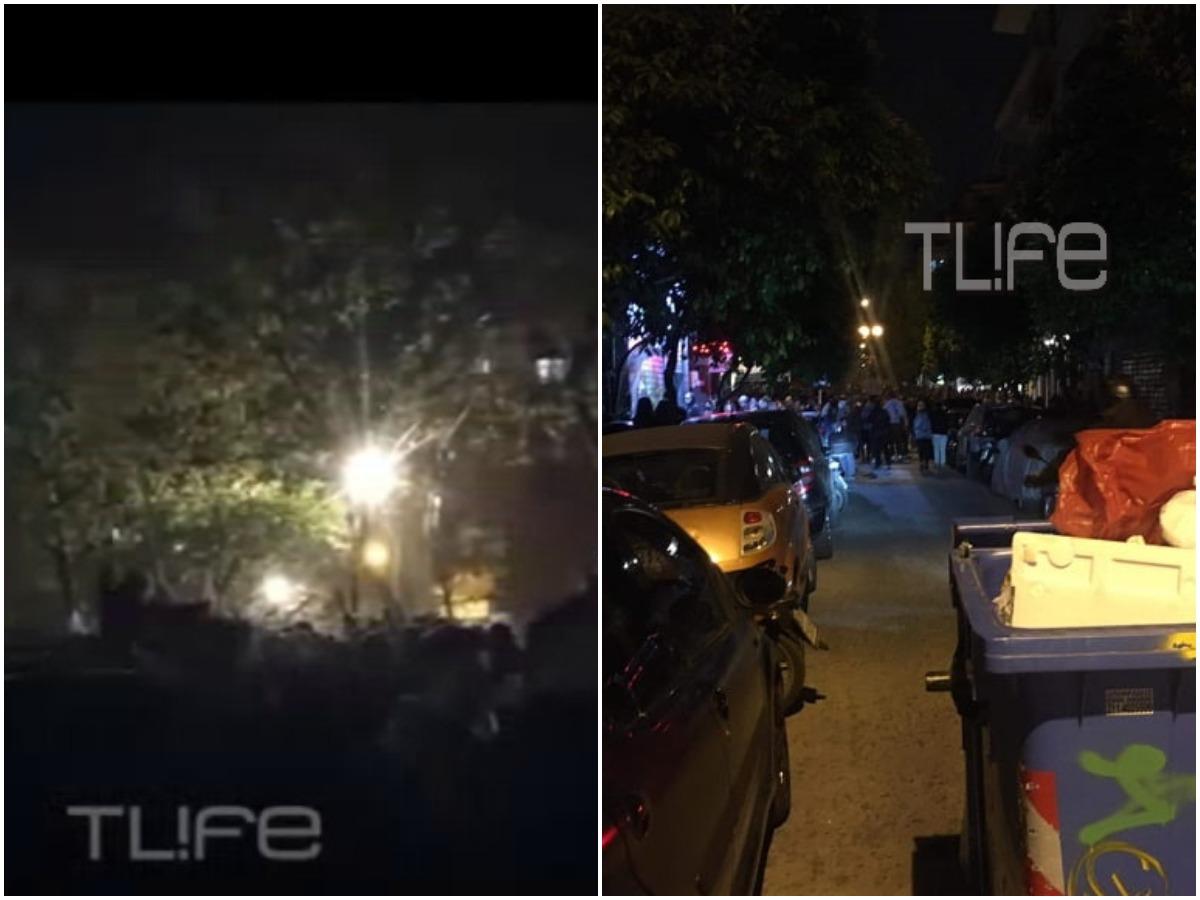 Ξέφρενο κορονοπάρτι ξανά στην Κυψέλη – Έβαλαν κάδους για να κόψουν την πρόσβαση – ΤLIFE ρεπορτάζ