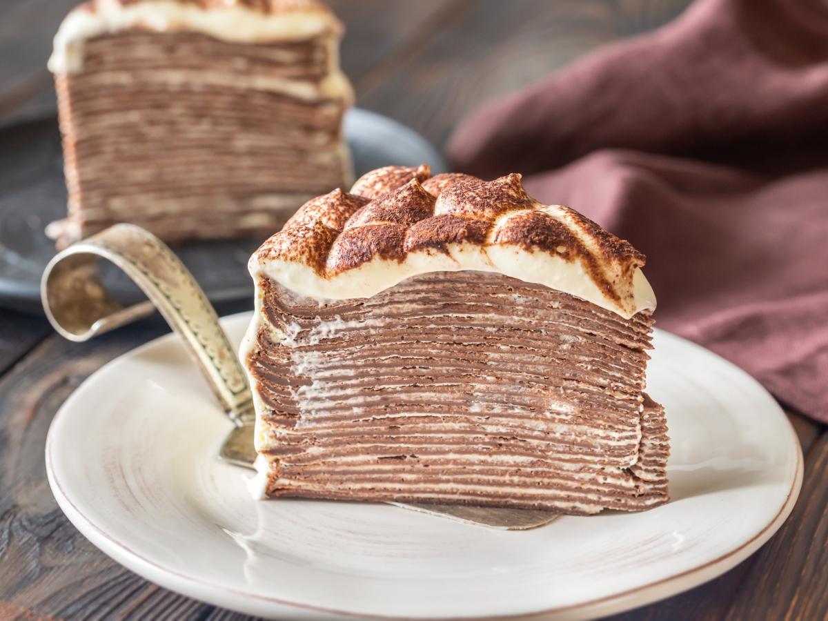 Συνταγή για εναλλακτικό κέικ τιραμισού με κρέπες