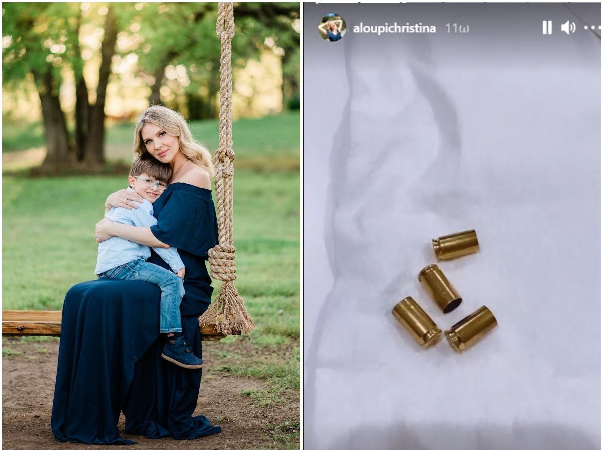Σοκαρισμένη η Χριστίνα Αλούπη! Βρήκε κάλυκες από σφαίρες στο κουτί με τις πάνες του γιου της – Βίντεο