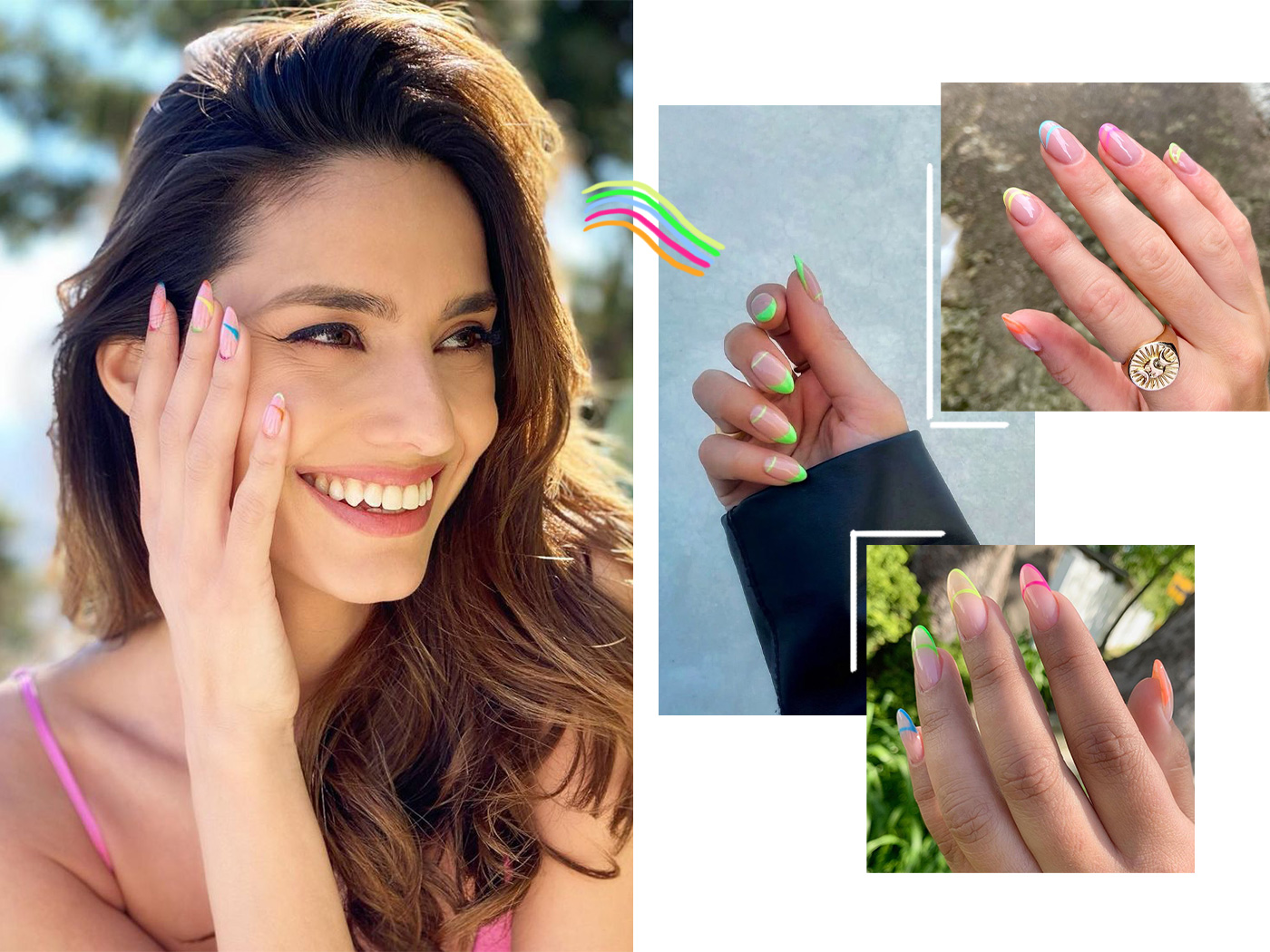 Neon French Twist: τα νύχια της Ηλιάνας Παπαγεωργίου είναι η μεγαλύτερη τάση του καλοκαιριού