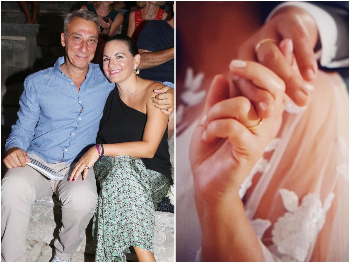 Όλγα Κεφαλογιάννη – Μίνως Μάτσας: Η αδημοσίευτη οικογενειακή φωτογραφία από το γάμο τους και το εντυπωσιακό νυφικό