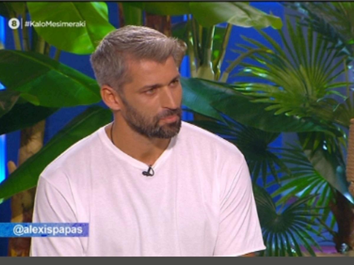 Αλέξης Παππάς: Ατάκες φωτιά στον Μουτσινά, στην πρώτη του τηλεοπτική εμφάνιση μετά το Survivor