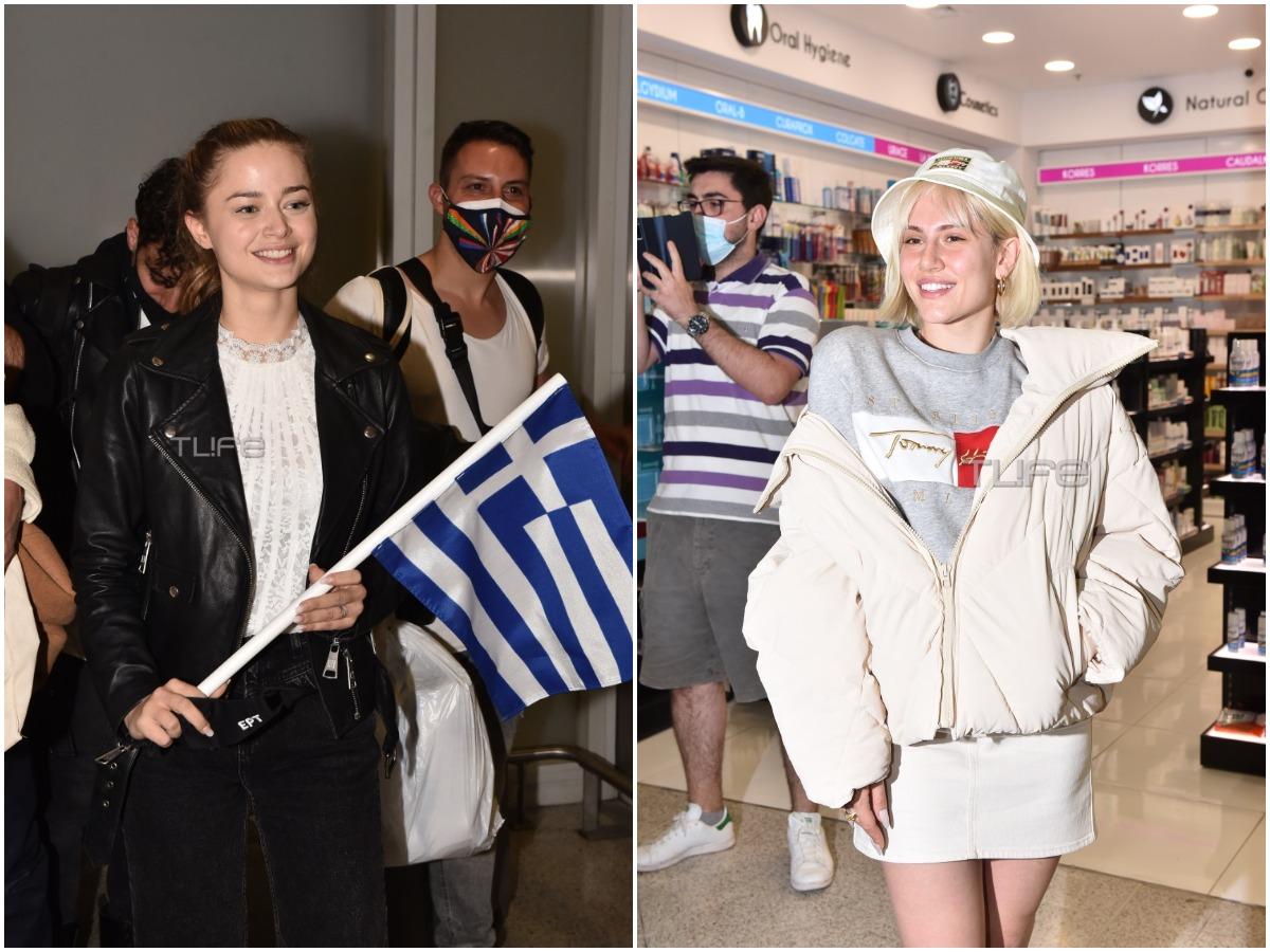 Στεφανία Λυμπερακάκη – Έλενα Τσαγκρινού: Επέστρεψαν στην Ελλάδα, μετά τη Eurovision – Φωτογραφίες του TLIFE από το αεροδρόμιο