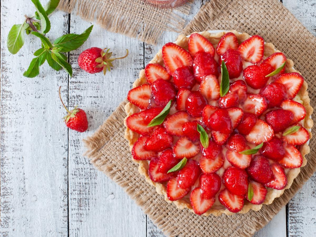 Συνταγή για ανοιξιάτικη τάρτα με φράουλες