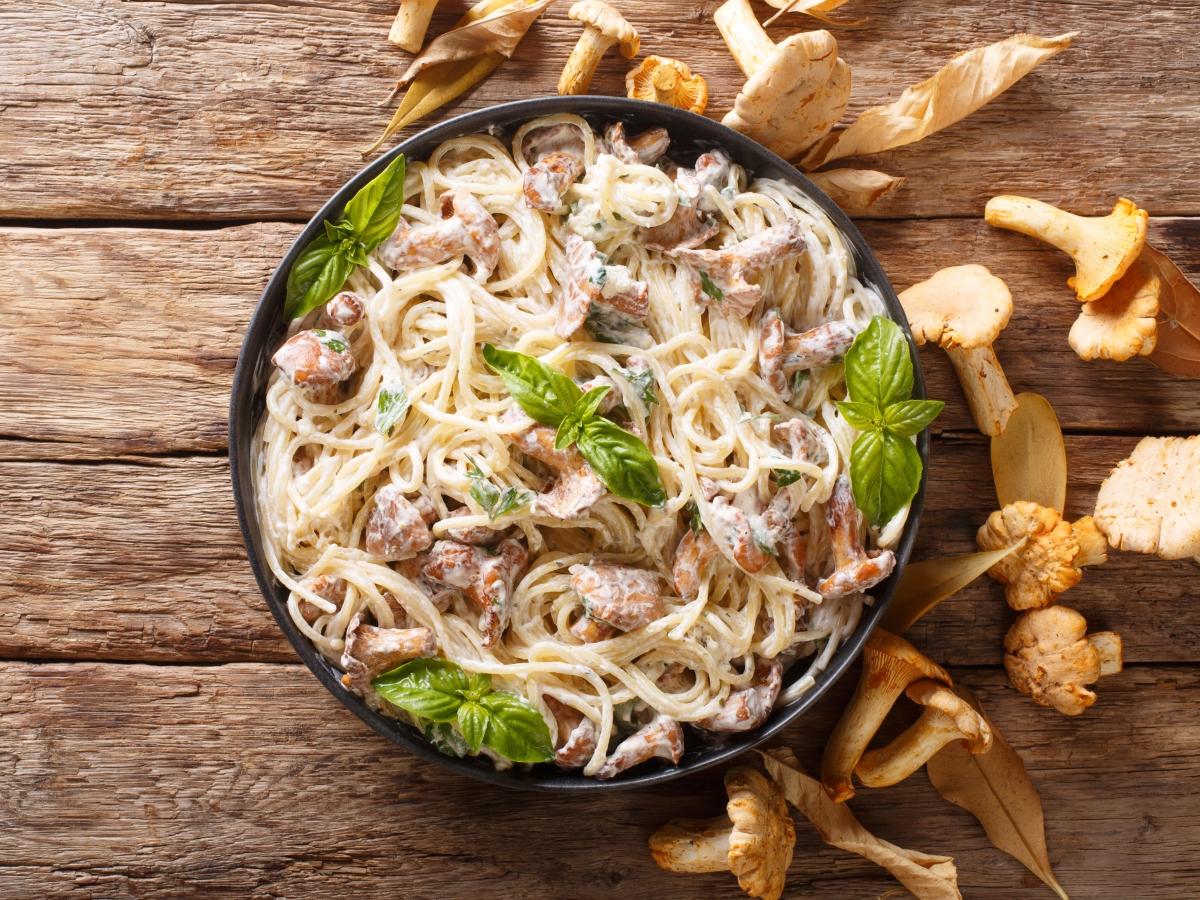 Συνταγή για καρμπονάρα με μανιτάρια