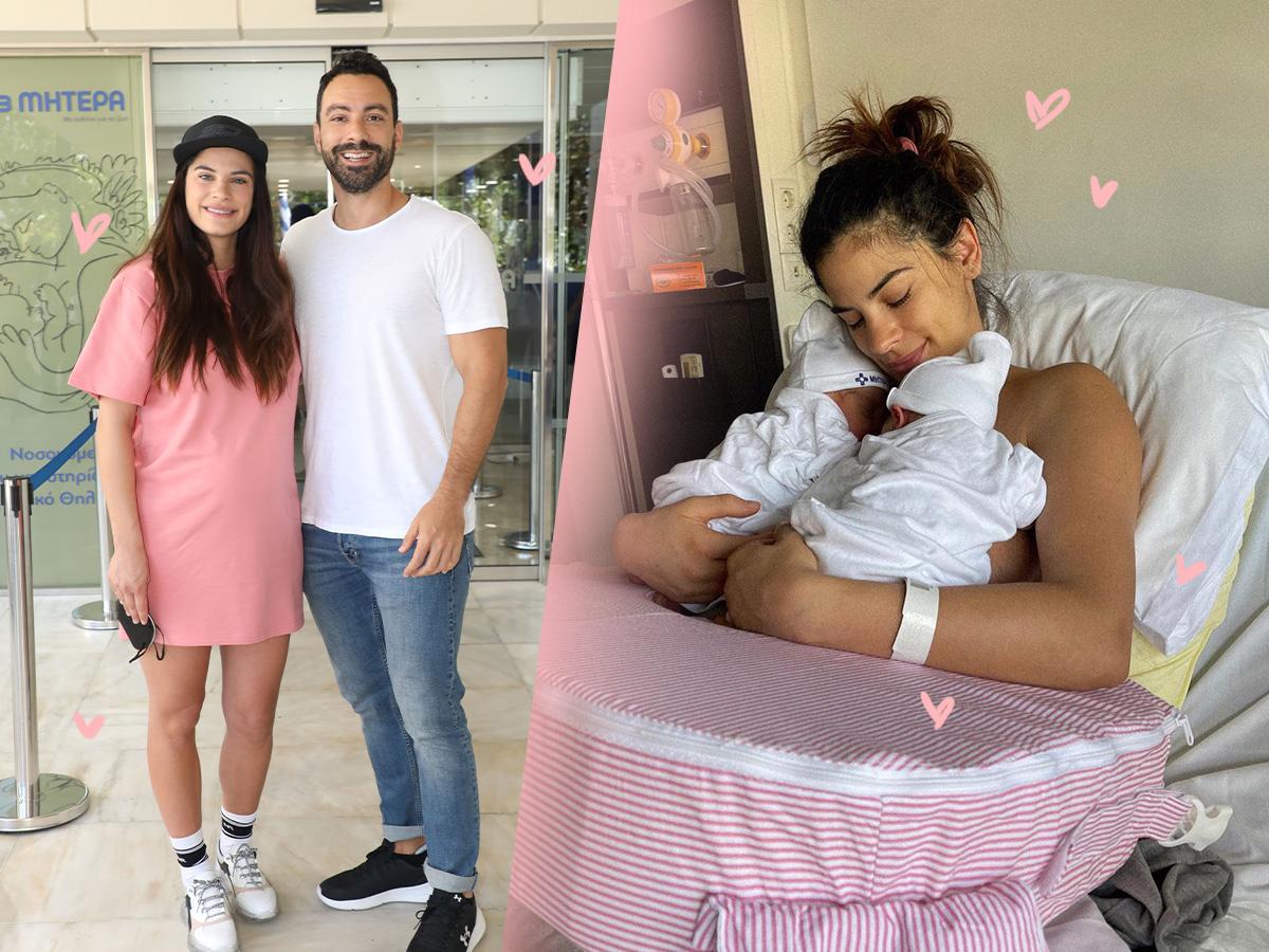Χριστίνα Μπόμπα – Σάκης Τανιμανίδης: Η πρώτη ημέρα στο σπίτι με τα δίδυμα κορίτσια τους