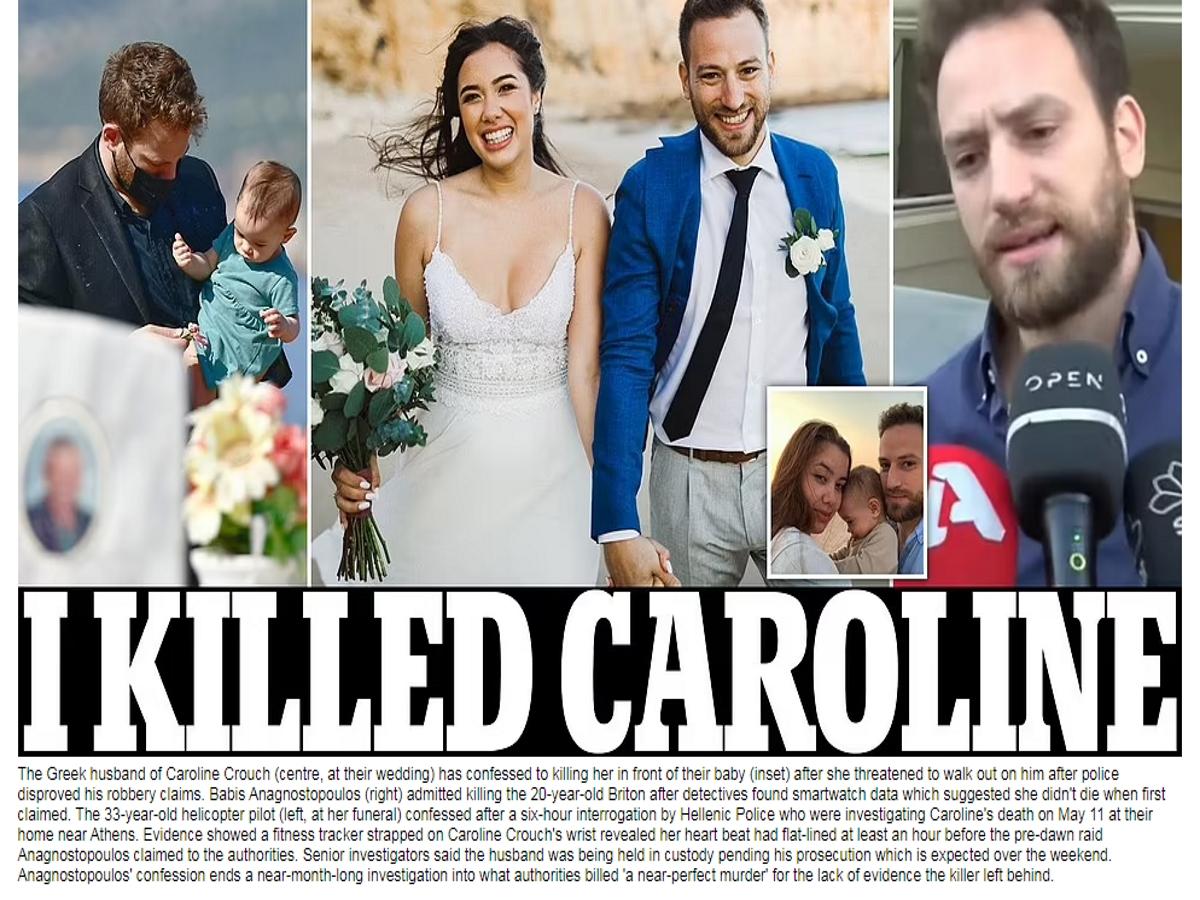 """Γλυκά Νερά: Πρωτοσέλιδο στη Daily Mail η ομολογία του πιλότου – """"Εγώ σκότωσα την Καρολάιν"""""""