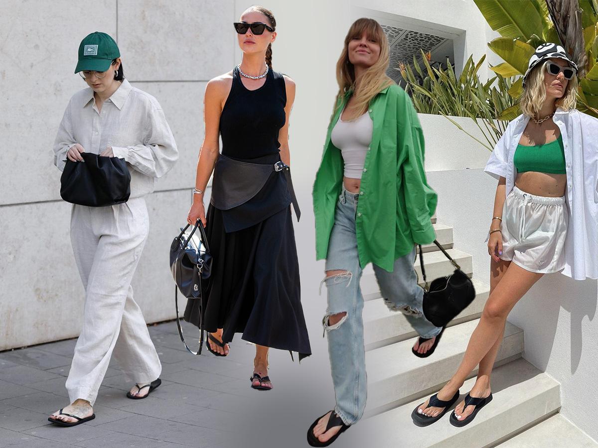 Σαγιονάρες: Φέτος οι fashionistas τις φοράνε πιο συχνά στην πόλη απ' ότι στην παραλία