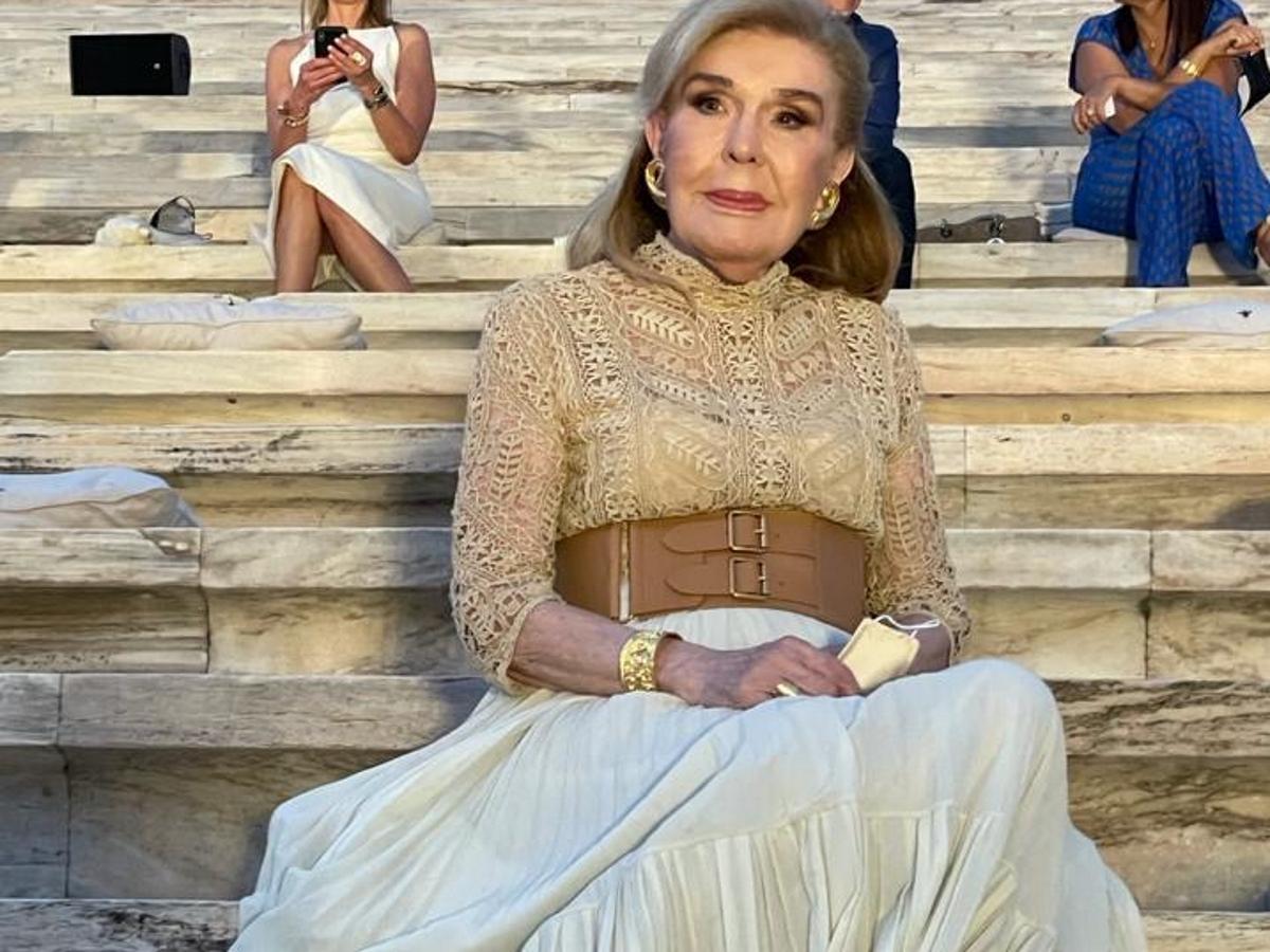 Mαριάννα Βαρδινογιάννη: Η εντυπωσιακή της εμφάνιση στο show του Dior στο Καλλιμάρμαρο