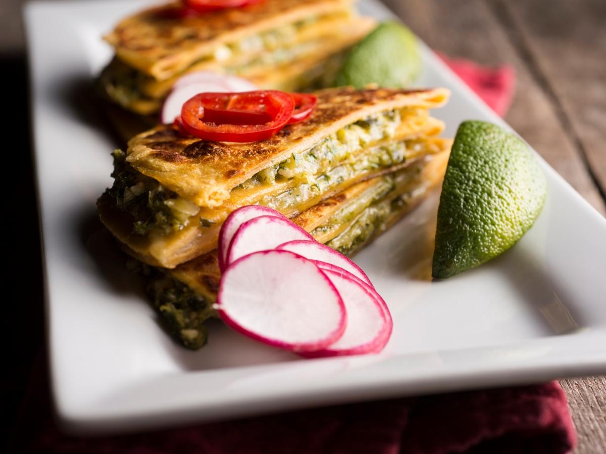 Συνταγή για quesadillas με σπανάκι και φέτα
