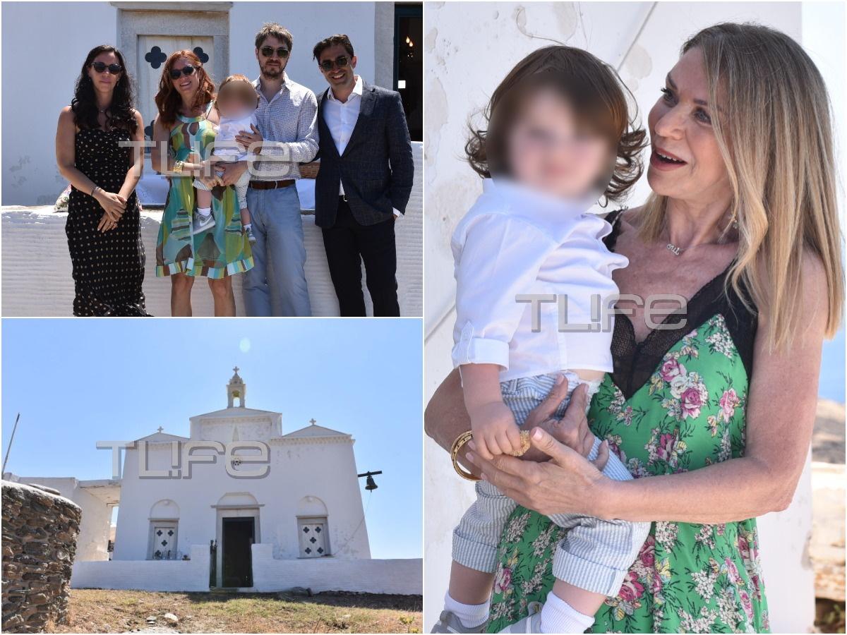 Έλλη Στάη: Βάφτισε τον εγγονό της στην Τήνο – Αποκλειστικό φωτορεπορτάζ του TLIFE