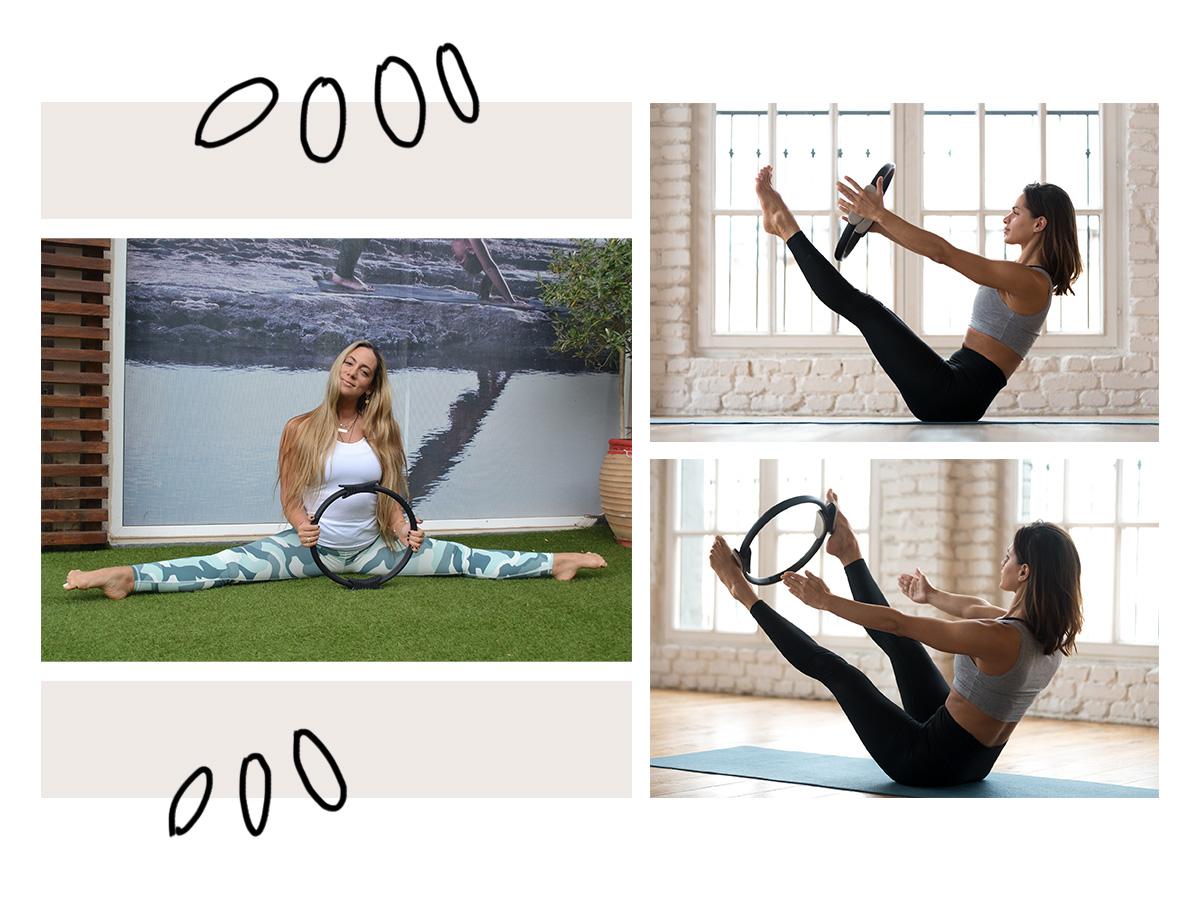 Ας γυμναστούμε μαζί! Ασκήσεις για δυνατό κορμό και σέξι πόδια με ένα Ring