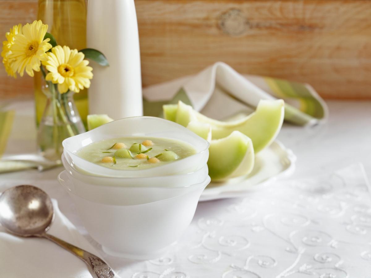 Συνταγή για κρύα σούπα πεπόνι