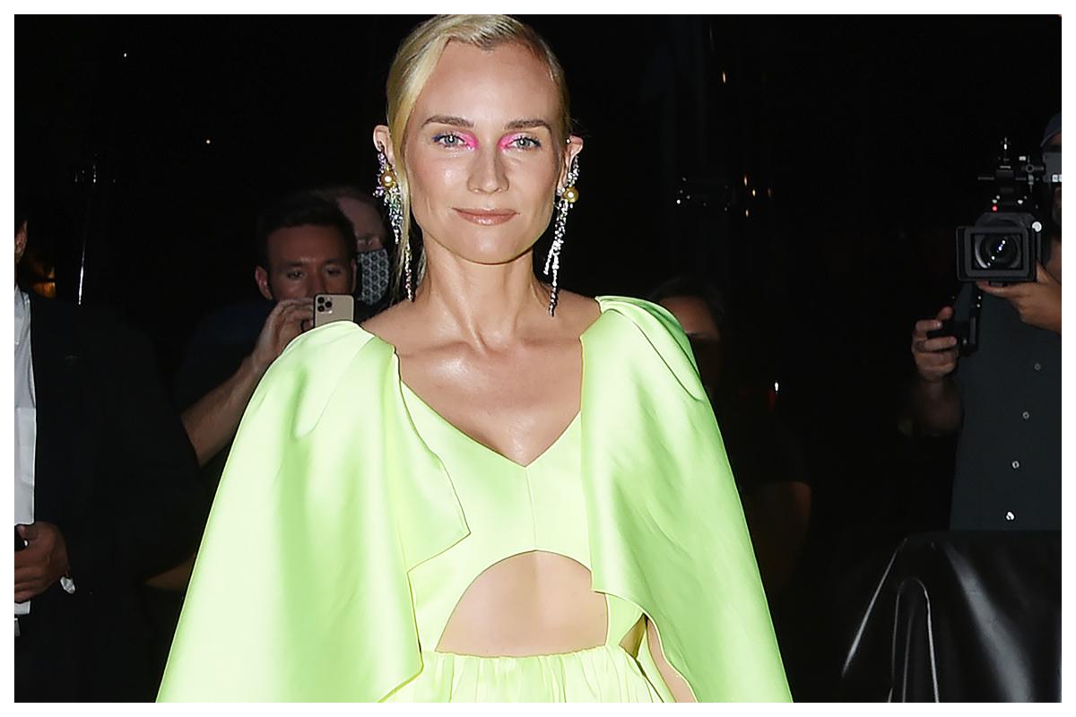 To colorful eye make up look της Diane Kruger είναι η τέλεια ιδέα για το Φθινόπωρο