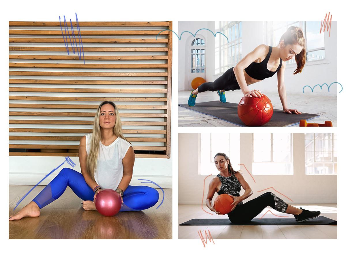 Ας γυμναστούμε μαζί! 6 δυναμικές ασκήσεις για όλο το σώμα με μία μικρή μπάλα