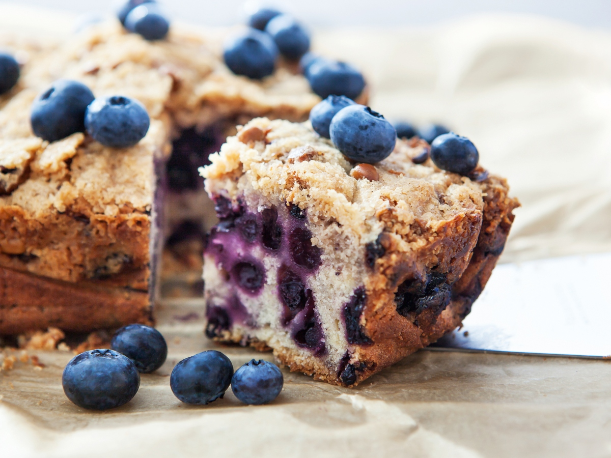 Συνταγή για αφράτο κέικ με blueberries
