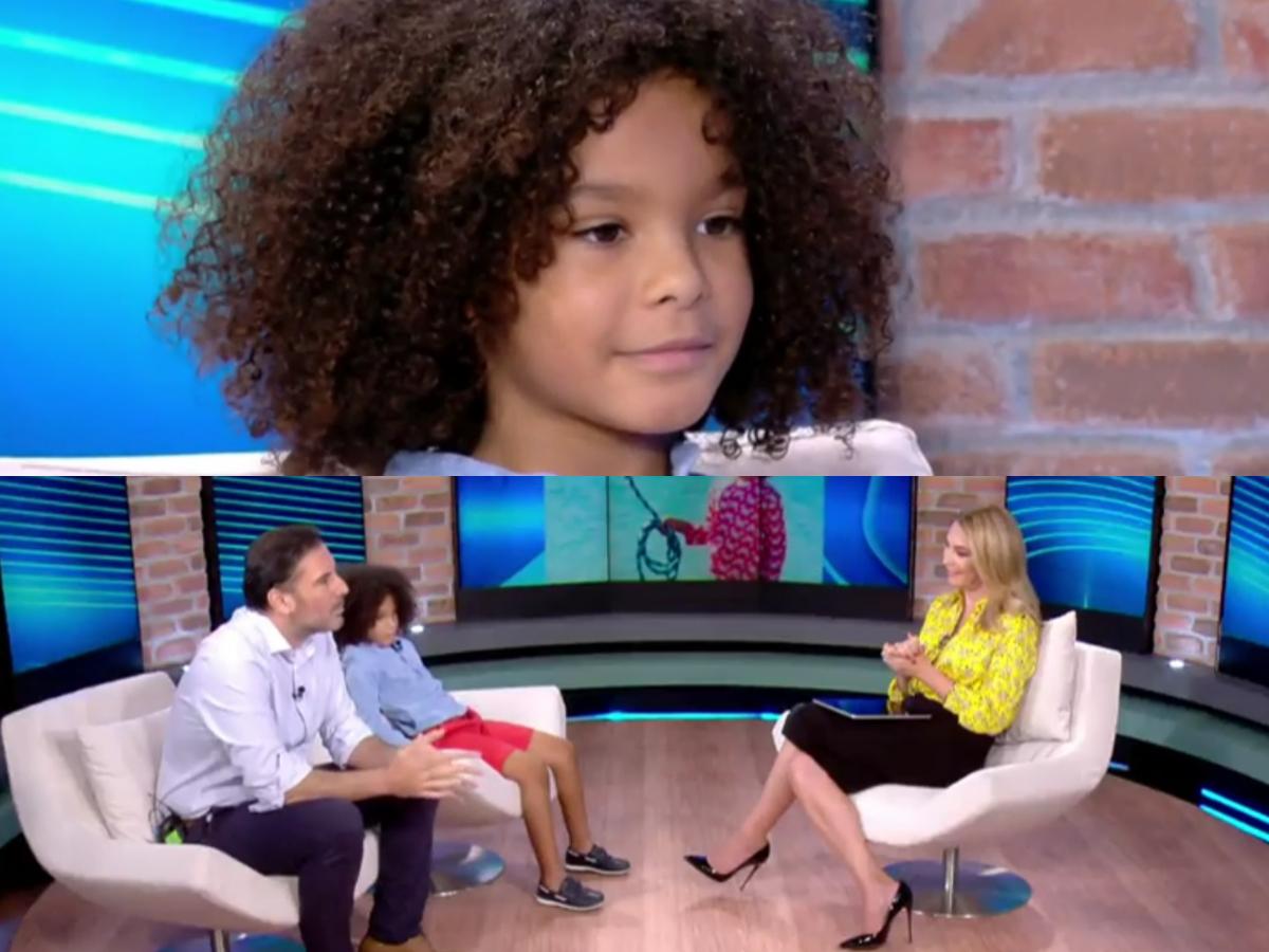 Ο 8χρονος Κωνσταντίνος που πρωταγωνιστεί στη νέα καμπάνια της «Louis Vuitton» με τον πατέρα του στο T-live