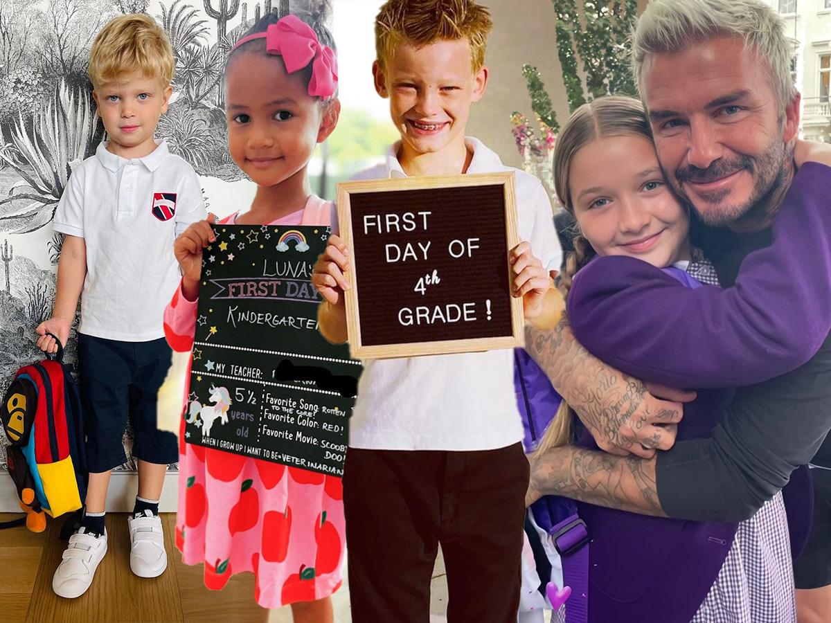 Πρώτη μέρα στο σχολείο: Διάσημοι γονείς φωτογραφίζουν τα παιδιά τους πριν το κουδούνι χτυπήσει